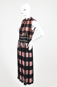 Victoria, Victoria Beckham short dress Multi-Color Pink Black Plaid Pleated on Tradesy