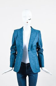 Gucci Gucci Blue Wool Speckled Ls Blazer Jacket