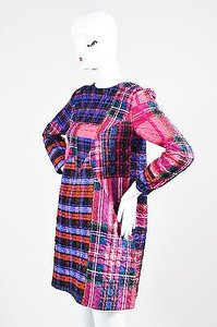 Victoria, Victoria Beckham short dress Multi-Color Plaid Crinkle Shift on Tradesy