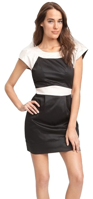 Preload https://img-static.tradesy.com/item/1216958/french-connection-blackcream-71rs6-short-cocktail-dress-size-8-m-0-0-650-650.jpg