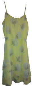 Old Navy short dress a light yellow with grey flowers on Tradesy
