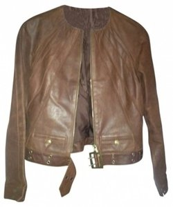 Christian Dior Brown Leather Jacket