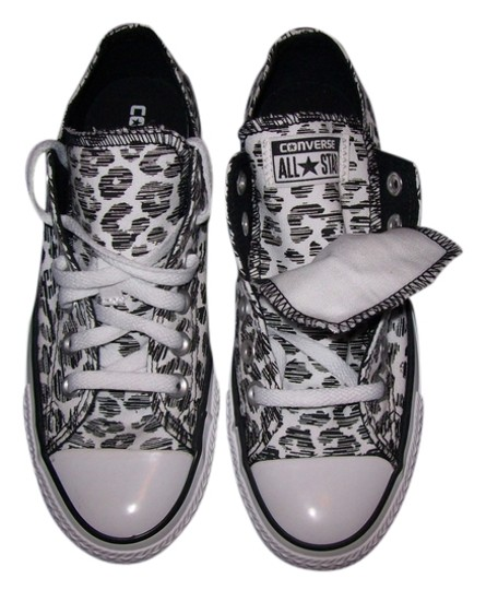 351d35710fa Converse Sneakers Flats Chuck Taylor Animal Double Tongue white and black  print Athletic ...
