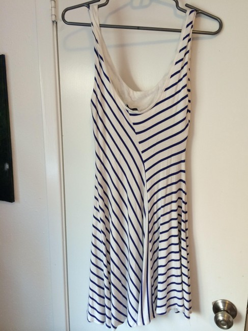 Bebe short dress Navy and white striped on Tradesy