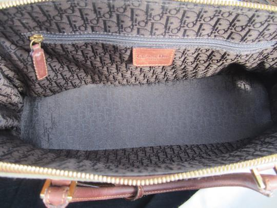 Dior Limited Edition Rare Unique Canvas Leather Hardware Satchel in Army Green Brown Gold Image 4