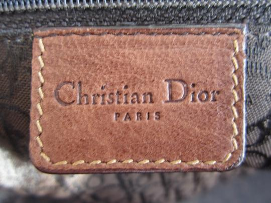Dior Limited Edition Rare Unique Canvas Leather Hardware Satchel in Army Green Brown Gold