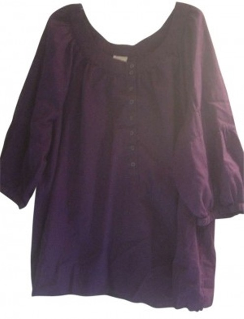 Preload https://item3.tradesy.com/images/faded-glory-purple-short-sleeve-tunic-size-22-plus-2x-121767-0-0.jpg?width=400&height=650