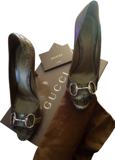Gucci Metallic brown Pumps
