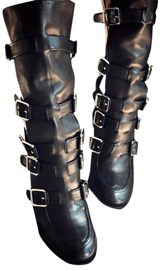 Preload https://item1.tradesy.com/images/laurence-dacade-black-leather-strappy-bootsbooties-size-us-8-regular-m-b-1217935-0-1.jpg?width=440&height=440
