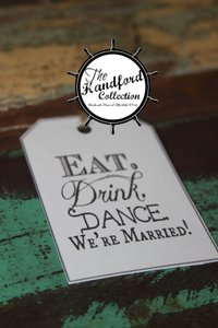 The Handford Collection We're Married Tags Set Of 100