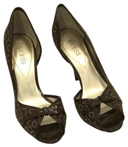 Guess Brown Fabric Pumps
