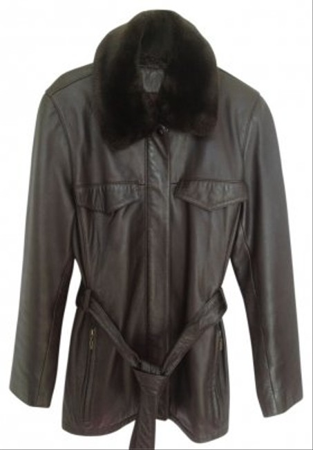 Valerie Stevens Brown Leather Jacket