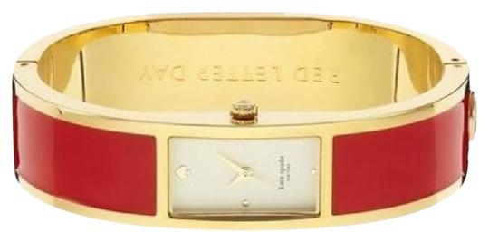 Preload https://item5.tradesy.com/images/kate-spade-red-carousel-gold-lining-bangle-watch-1218314-0-1.jpg?width=440&height=440