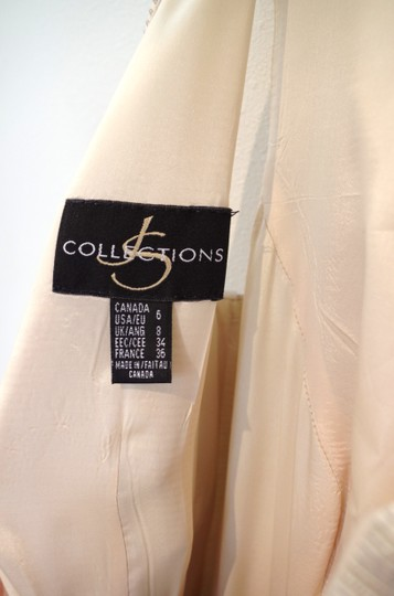 JS Collections Gold Cotton and Acetate Golden Gown Modern Wedding Dress Size 8 (M)