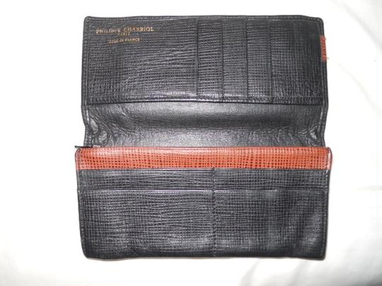 Charriol Philippe Charriol leather check book wallet Image 1