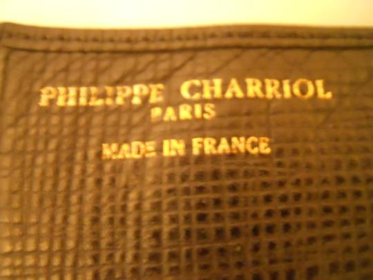 Charriol Philippe Charriol leather check book wallet Image 2