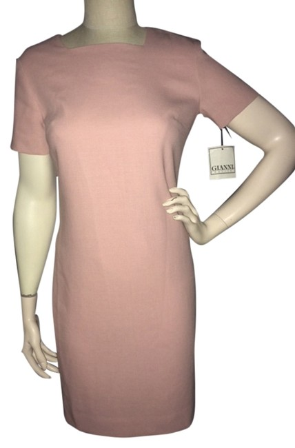 Preload https://item5.tradesy.com/images/pink-new-wool-shift-knee-length-workoffice-dress-size-petite-6-s-1218514-0-0.jpg?width=400&height=650