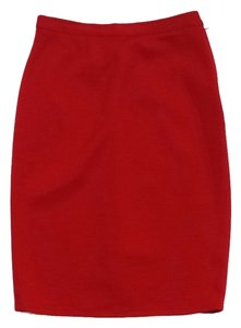 Sonia Rykiel Vintage Red Wool Skirt