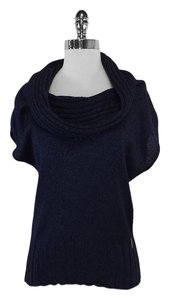 Escada Navy Knit Cowl Neck Sweater