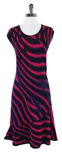 Escada short dress Abstract Zebra Print Knit on Tradesy