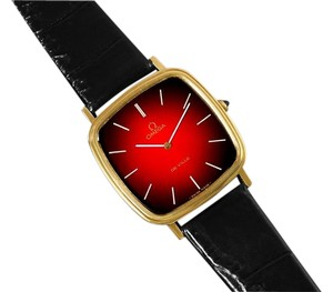 Omega 1979 Omega De Ville Vintage Mens Handwound Ultra Thin Dress Watch - 18K Gold Plated & Stainless Steel