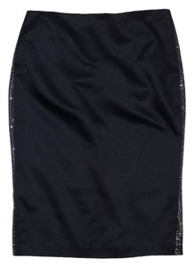 Ralph Lauren Black Silk Pencil Skirt