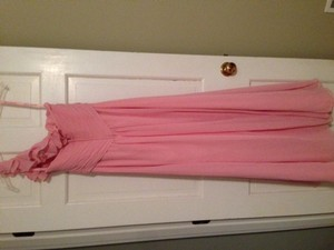 Mori Lee Rose Petal Pink Chiffon - Style 288 Feminine Bridesmaid/Mob Dress Size 6 (S)