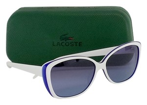 Lacoste White & Blue Sunglasses