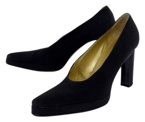 Saint Laurent Black Nylon Pumps