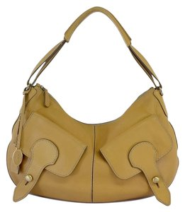 Tod's Deep Beige Leather Shoulder Bag