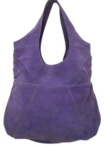 Lucky Brand Leather Suede Tote Hobo Bag