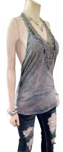 American Age Size Large Gray Halter Top