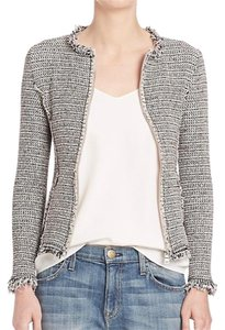 Rebecca Taylor Tweed Spring Classic Feminine Textured Grey Jacket