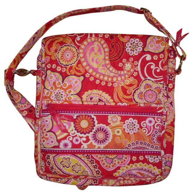 Item - Raspberry Fizz/Pink Floral Quilted Fabric Messenger Bag