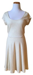 American Eagle Outfitters short dress Cream/Grey on Tradesy