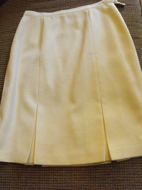 Le Suit Yellow Spring Skirt Suit