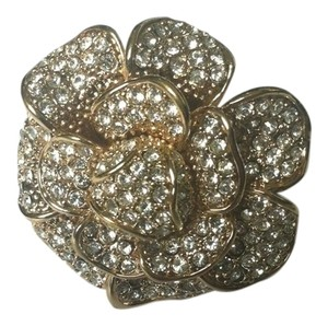 Nordstrom Gold and Crystal Flower Ring