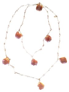 J.Crew Amber and Gold Chain necklace