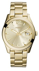 Fossil PERFECT BOYFRIEND GOLD-TONE STAINLESS STEEL WATCH