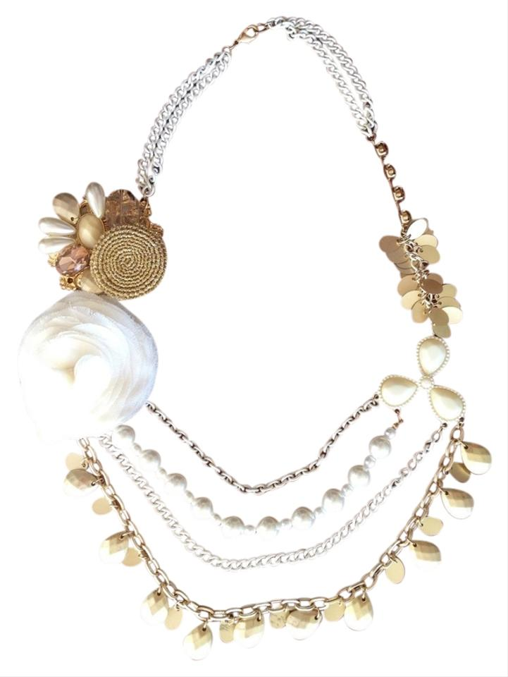 Nordstrom white and gold multi strand flower statement necklace nordstrom multi strand flower statement necklace mightylinksfo