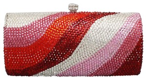 Other Multicolor Red, Pink, Clear, Rhodium/silver Clutch