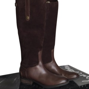 Sam Edelman Leather Suede Riding Boot Brown Boots