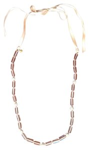 J.Crew Link and Crystal Ribbon Necklace