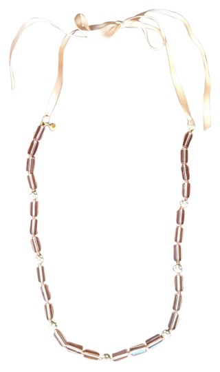 Preload https://item5.tradesy.com/images/jcrew-peach-link-and-crystal-ribbon-necklace-1219004-0-0.jpg?width=440&height=440