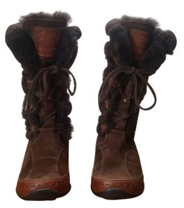 The North Face Snow Faux Fur Brown Boots