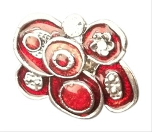 Other NEW Women's Fashion Big Fabulous Ring Red Silver Crystals Adjustable - Gorgeous!!
