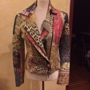 Roberto Cavalli Motorcycle Rock N Roll Motorcycle Jacket