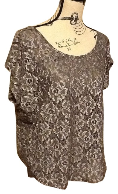 Preload https://item1.tradesy.com/images/bobeau-silvergrey-metallic-the-town-night-out-top-size-14-l-1219040-0-2.jpg?width=400&height=650