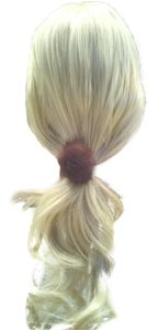 Repurposed mink ponytail holder
