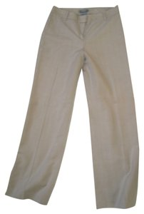 Ann Taylor Striped Flare Pants Tan with white stripes